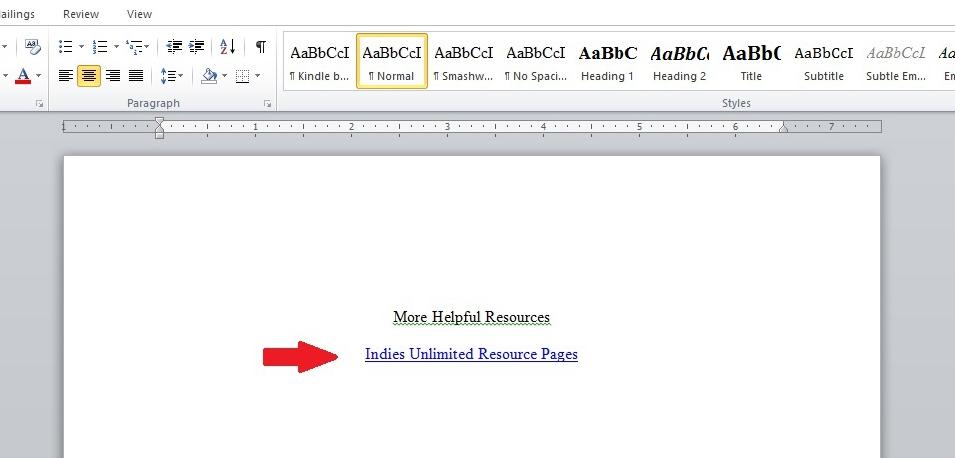 Format adding hyperlinks to ebooks 5