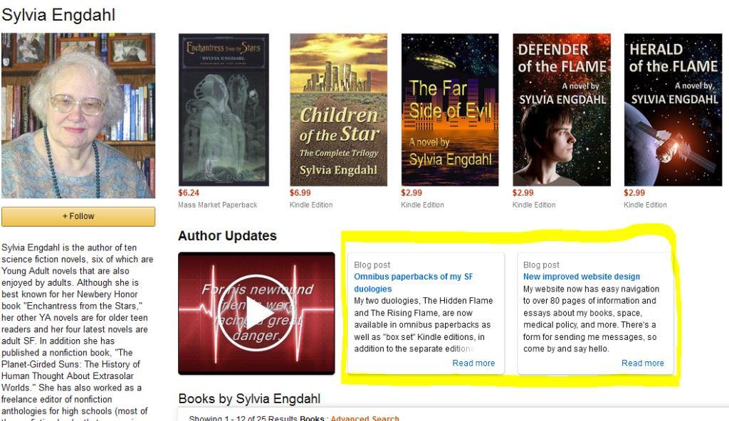 rss feed on amazon author central