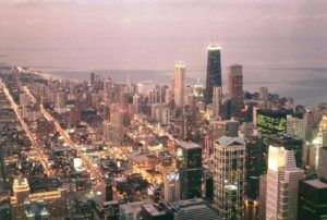 chicago 1996 skyline flash fiction writing prompt copyright ksbrooks