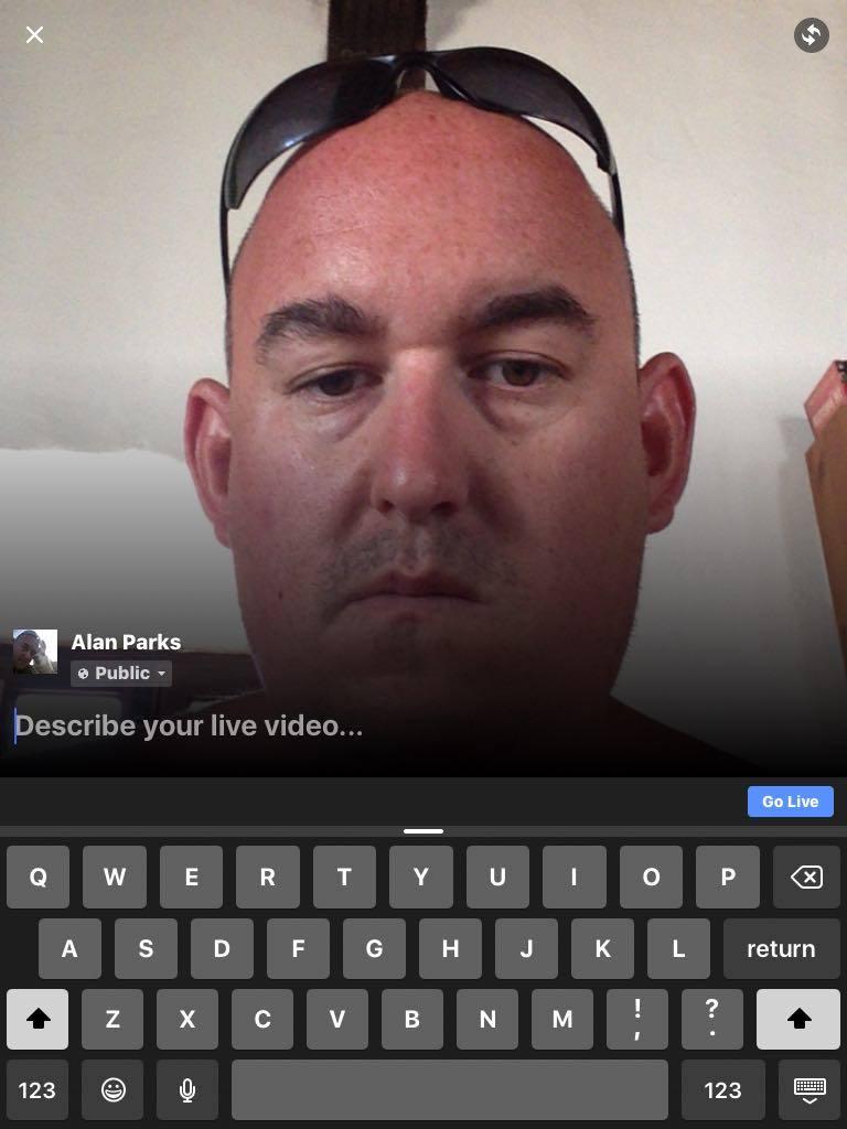 facebook live screen