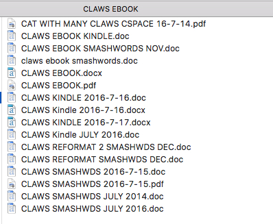 claws-ebook versions
