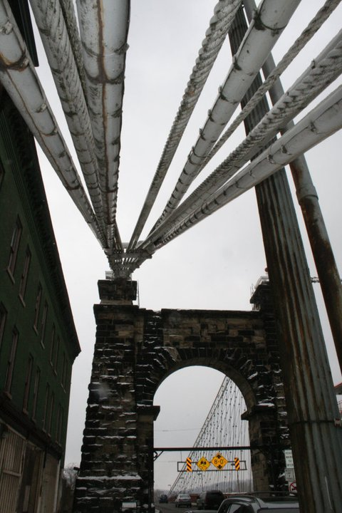 flash fiction prompt copyright KS Brooks wheeling susp bridge