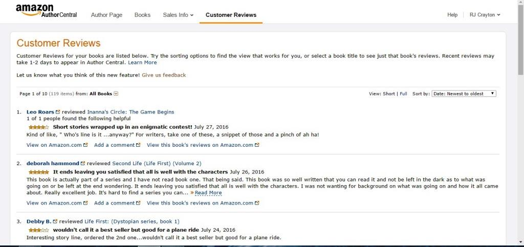 Amazon Author Central AC13_CustomerReviews