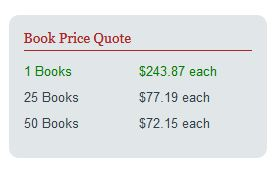 Book1One hardcover price quote