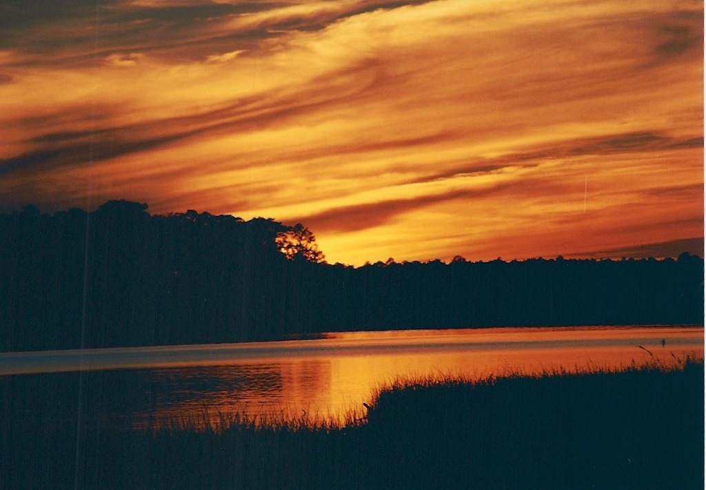 Flash fiction writing prompt copyright KS Brooks Sunset rte 335 0901