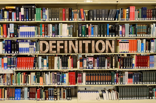 definition and bookshelves